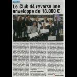 Le Club 44 reverse une enveloppe de 18.000€