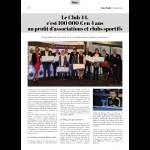 100 000€ en 4 ans au profit d'associations et clubs sportifs