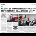 Autisme : de nouvelles installations vidéo pour la fondation SUSA grâce au Club 44