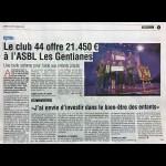 Le Club 44 offre 21.450€ à l'asbl Les Gentianes