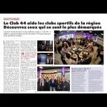 Le Club 44 aide les clubs sportifs de la région. Découvrez (...)