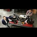 Des Montois customisent une Harley Davidson pour Max Verstappen