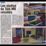 Les studios de Télé MB relookés