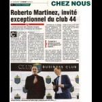 Roberto Martinez, invité exceptionnel du Club 44